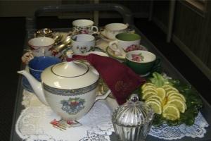 bridal shower tea cart